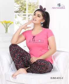 KAVYANSIKA 431 DESIGNER CLASSY FANCY CASUAL PREMIUM HOSIERY COTTON NIGHT SUITS AT WHOLESALE PRICE Chubby Fashion, Curvy Women Fashion, Bollywood Actress Hot Photos, Indian Bollywood Actress, Beautiful Asian Girls, Most Beautiful Indian Actress, Beautiful Actresses, Night Wear Dress, Suits For Women