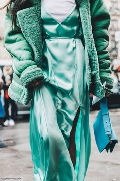 Paris Fashion Week fall 2016 street style The Attico dress