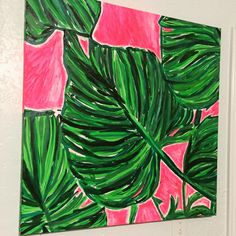New 30x30 #painting in the #lillypulitzer room!  Be still my heart ❤️ #preppydesign #lillydecor #lillylove