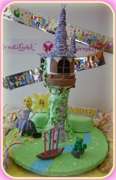 Rapunzel tangled tower birthday cake3!! Τούρτα Rapunzel3!!