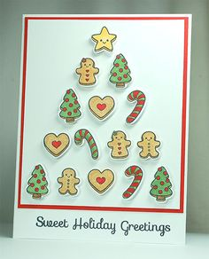 Your Next Stamp: Sweet Holiday Greetings stamp and die set #yournextstamp