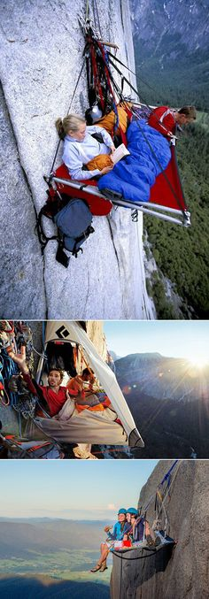 I would panic while awake, then probably fall to my death after I fell asleep