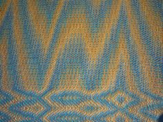 16/2 cotton, 48 epi, weft 2 x 16/2 threads. A networked warp based on a three end initial with 3 echoes.  That is 4 warp lines each a diffe...