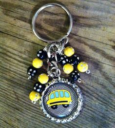 School bus keychain perfect thank you to any school bus driver. $6.50, via Etsy.