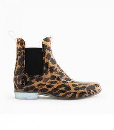 J.Crew Chelsea Leopard Rain Boots