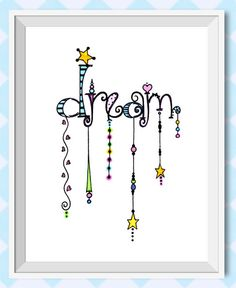 https://www.etsy.com/listing/193432882/dream-dangles-giclee-print-inspirational?ref=shop_home_active_1  Dream Dangles is a totally whimsical and fun illustration. This image with all of its colors and shapes was created with bright watercolors and inspiration.