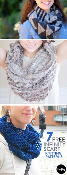 Knitting infinity scarves never gets old. There are so many patterns and stitches to try that you're sure to keep learning new stitches and techniques.