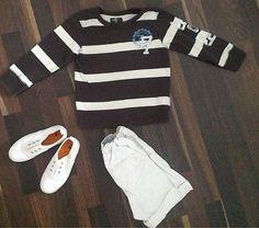 H Pullover Gestreift Braun Weiß - Verkäufer: silkd5