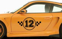 Race cijfer checkered -Interieursticker, autostickers of geboortesticker kopen?   Stickyshop  #autosticker #racesticker