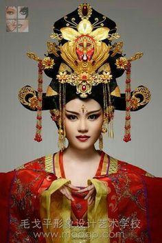 Japanese Fashion, Modern Fashion, Chinese Fashion, Headdress, Headpiece, Oriental Fashion, Oriental Style, Exotic Women, Dress Drawing