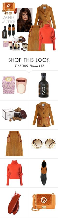 """""""Salted caramel"""" by juliabachmann ❤ liked on Polyvore featuring Ladurée, Lancôme, Prada, Creatures of the Wind, Balmain and Mario Valentino"""