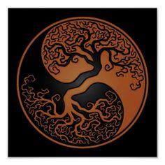 Yin Yang Mandala~∞ Celtic Tree of Life Symbol Yen Yang, Ying Y Yang, Tatuajes Yin Yang, Yin Yang Tattoos, Tree Of Life Symbol, Celtic Tree Of Life, Celtic Symbols, Celtic Art, Druid Symbols