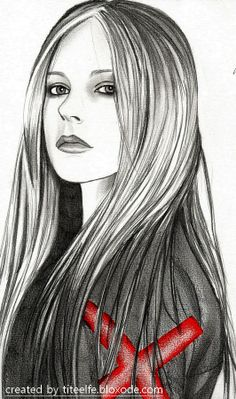 #avril #lavigne All my drawings on http://titeelfe.bloxode.com/ #illustration