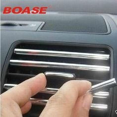 New U Style Durable 5 meters Silver Car Chrome Styling Decoration Moulding Trim Strip Tape Air Condition/Vent Switch Rim Grille