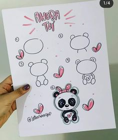 Cute Food Drawings, Easy Drawings, Drawing Poses, Step By Step Drawing, Love Pictures, Cartoon Styles, Hama Beads, Cute Stickers, Doodle Art