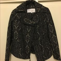 NEW w/ tags Black/grey pea coat - Jessica Simpson Brand NEW Jessica Simpson coat. Zips in front, then flaps over. Beautifully lined, slim fit. SO cute!!  Jessica Simpson Jackets & Coats Pea Coats