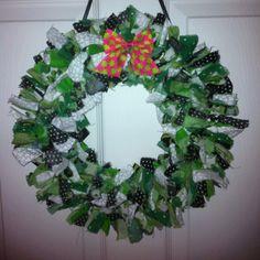 St. Patrick's Fabric Wreath.