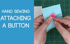 Sewing on a Button Sewing Stitches, Hand Sewing, Buttons, Sewing By Hand, Stitches, Sewing Coat, Hand Stitching, Plugs