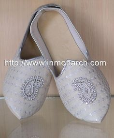 90acdb0e6575 Indian Wedding Shoes For Men Cream Indian Wedding Shoes Red Flower.  InMonarch