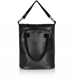 EYTYS Void Daypack in Black. This water resistant tote bag is made from black PU-coated cotton, a durable material custom-developed by Eytys. Leather Backpack, Backpacks, Tote Bag, Bags, Handbags, Leather Book Bag, Carry Bag, Women's Backpack, Tote Bags