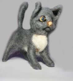 sweet Cat Kitten needle felted miniature beautiful animal toys  handmade #3 | eBay