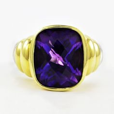 """David Yurman Amethyst """"Noblesse"""" Ring 