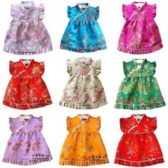 Handmade Baby girl Cheongsams Dress set Qipao by BerrylaneKids