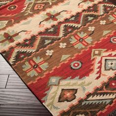 The colors and design of this rug!!! Love. Western Jewel Rug - #WesternHome