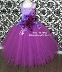 Purple Tutu DressPurple Ball Gown Tutu Dress Pageant Tutu | Etsy Princess Tutu Dresses, Girls Tutu Dresses, Tutus For Girls, Little Girl Dresses, Purple Flower Girls, Flower Girl Tutu, Flower Girl Dresses, Fairy Costume Diy, Fairy Costumes