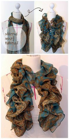 DIY Easy Shirred Scarf Tutorial from This Blog Is Not For You...