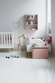 Simple, yet chic, room for big and little. # kids #nursery #decor