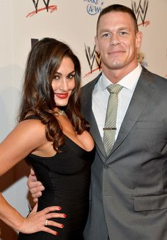 Nikki Bella WWE Diva Nikki Bella (L) and John Cena attend WWE & E! Entertainment's 'SuperStars For Hope' at the Beverly Hills Hotel on Augus...