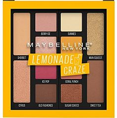Maybelline Lemonade Craze Eyeshadow Palette: Maybelline Soda Pop Eyeshadow Palette features 12 bold, pigmented eyeshadows in a mix of matte and shimmer eyeshadow shades. Create any look with these sweet soda pop scented hues. Paleta Maybelline, Maybelline Eyeshadow, Drugstore Makeup, Makeup Tips, Eye Makeup, Makeup Products, Beauty Products, Beauty Kit, Bucket Lists