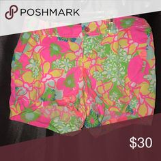 Lilly Pulitzer shorts Worn many times, but are in great condition! A little wrinkly because they were in a drawer:) Lilly Pulitzer Shorts
