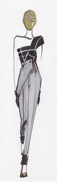 Resultado de imagem para Fashion Sketches Martin Margiela