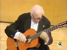Andres Segoivia - performing Villa-Lobos Prelude no. 1 in e minor, live in Spain - just beautiful!