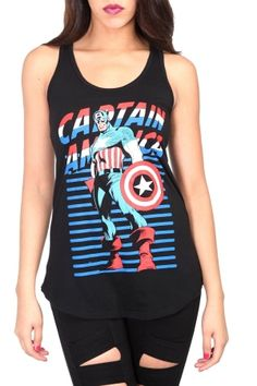 Marvel universe captain america tank top shoes, clothes and jewellery ameri Neo Grunge, Grunge Style, Fashion 90s, I Love Fashion, Woman Fashion, Marvel Universe, Avengers Outfits, Queen, Clothes