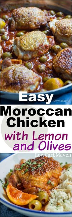 Easy Moroccan Chicken with Lemons and Olives | Low Carb Maven