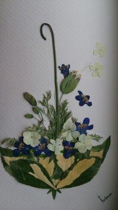 Kurutulmuş çiçek çalışmam ( my pressed flower work)