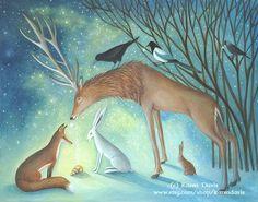 By Karen Davis, Moonlight and Hares