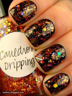 Magical !! Lynnderella Cauldron Drippings Nails