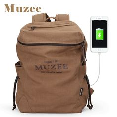 69b6804975d0 [ $26.32 ] Muzee New Men Backpack Canvas Backpack Bags College Student Book  Bag Large Capacity