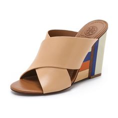 TORY BURCH Color cube mules found on Nudevotion