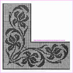 This Pin was discovered by Nil Filet Crochet Charts, Crochet Borders, Crochet Cross, Crochet Patterns, Crochet Curtains, Crochet Tablecloth, Crochet Doilies, Crochet Lace, Cross Stitch Borders