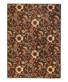 Take a look at this Floral Partridge Rug on zulily today!