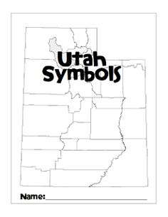 FREE Counties of Utah Map (blank, for kids to fill out