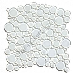 Round Bubbles Gl Tile Mosaic Crystal Glbu17 1200es58 Super White Glossy
