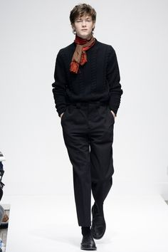 pleated trousers | Margaret Howell Fall 2016 Menswear Fashion Show