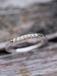 Freshwater Pearl Ring // Hidden Gems - Gardens of the Sun Jewelry