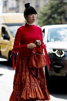 Что носят на Неделе моды в Париже: 1 часть